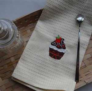 Hotel Home Hand Size Bamboo Fiber Clean Soft Kitchen Towel For Dish Cloth