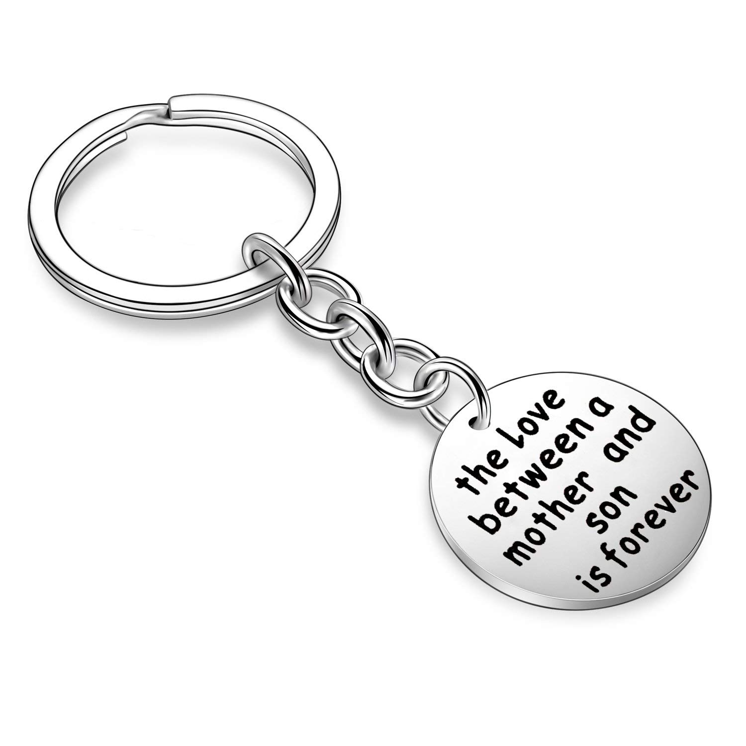 Family Gifts Mother Daughter Son Grandmother Granddaughter Grandson Love Forever Keychain Mom Grandma Jewelry (The Love Between A Mother and Son is Forever)