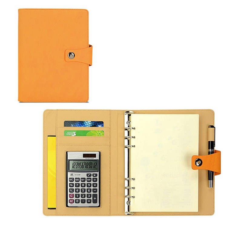 Fashion PU A5 pocket notebook with pen holder