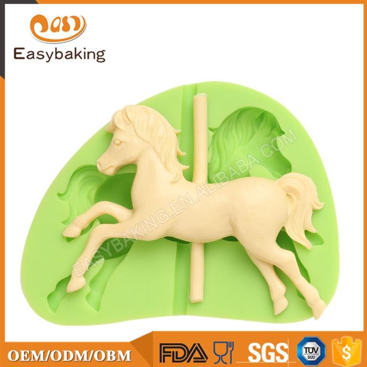 ES-0035 Animal Mould Mini Horse Left Facing Fondant Silicone Molds for cake decorating