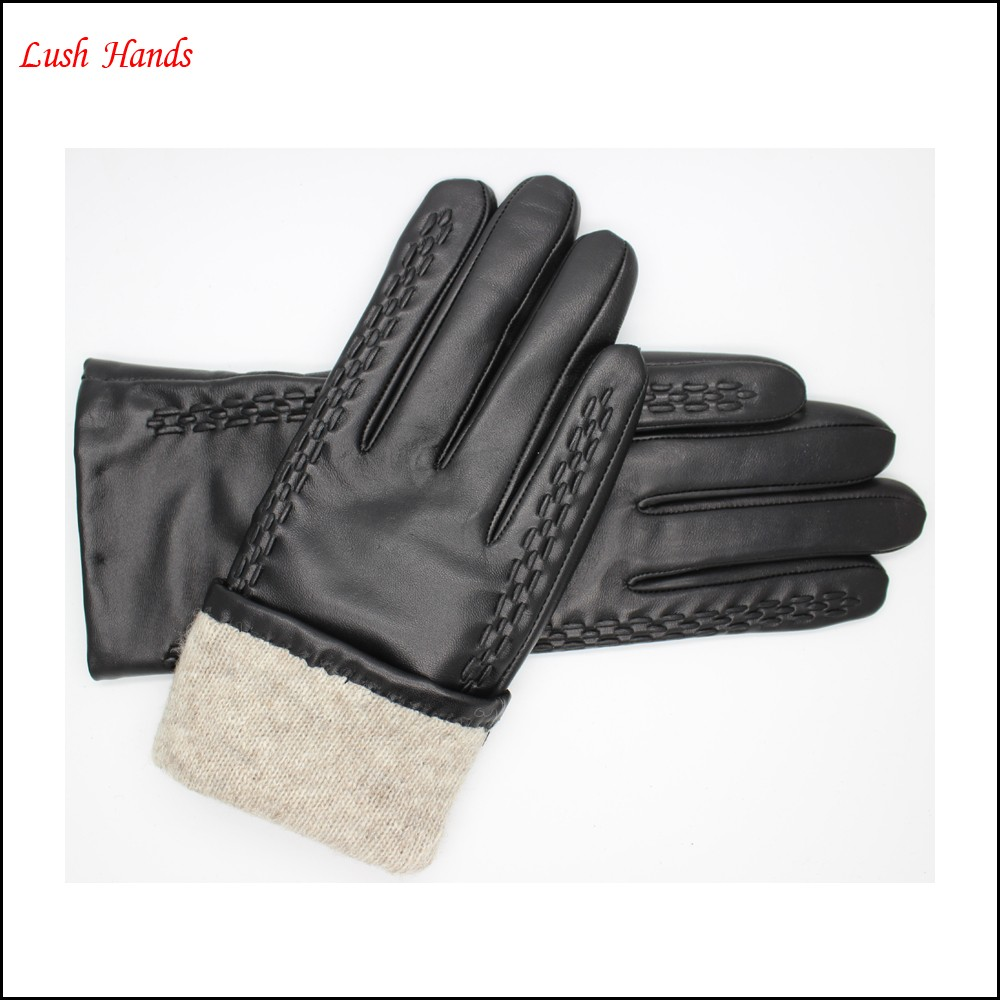 women woven leather gloves & mittens leather gloves