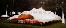 stretch tent fabric waterproof with pu coated on sides