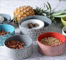 개인 printing 여러 sizes round shape lovely 세라믹 pet dog bowl