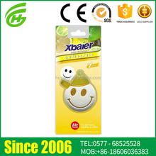 2017 Good Design Eco-Friendly PVC Smiley Face Car Hanging Air Freshener
