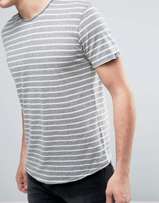 Solid Custom Wholesale Striped T Shirt In Curve Hem Buy