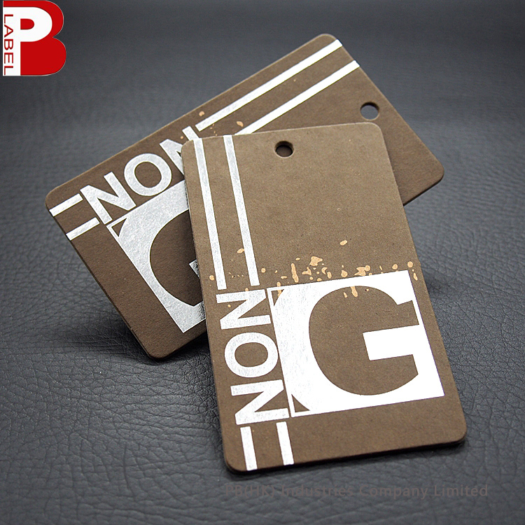 Thick Cardboard Kraft Paper Print Garment Hang Tag Template