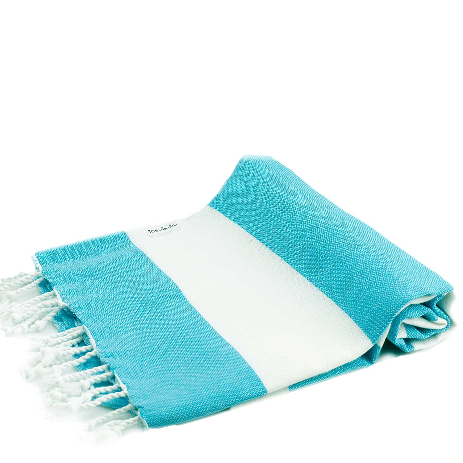 f958eb289e Get Quotations · Biarritz Turquoise Striped Turkish Towel for Bath   Beach  - Swimming Pool - Yoga Pilates -
