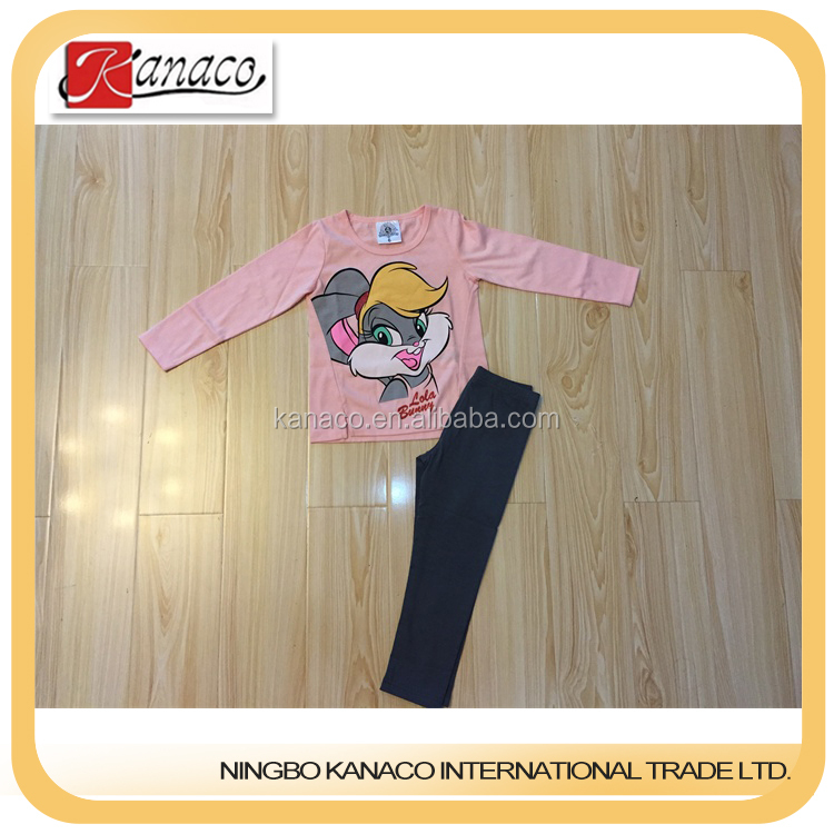 New arrival casual long sleeve T-shirt sets low price children clothes clothing