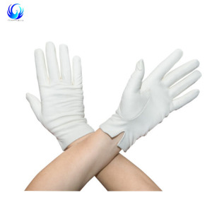 Women's white Leather Gloves White modern casual look winter gloves