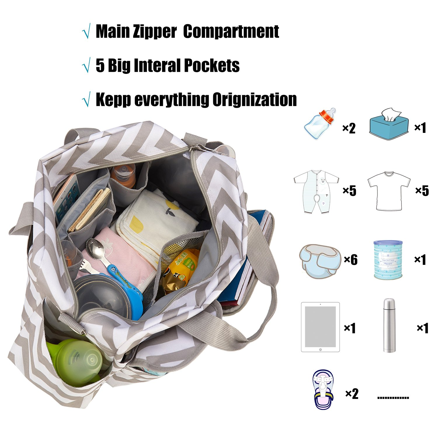 Large Capacity Nappy  Waterproof Diaper Shoulder Bag Mummy Diaper Backpack Bag,Baby Care Bag