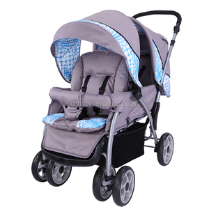 Hot sale stainless steel premium baby twins stroller/baby stroller for twins eva wheels/ eco-friendly baby twin stroller