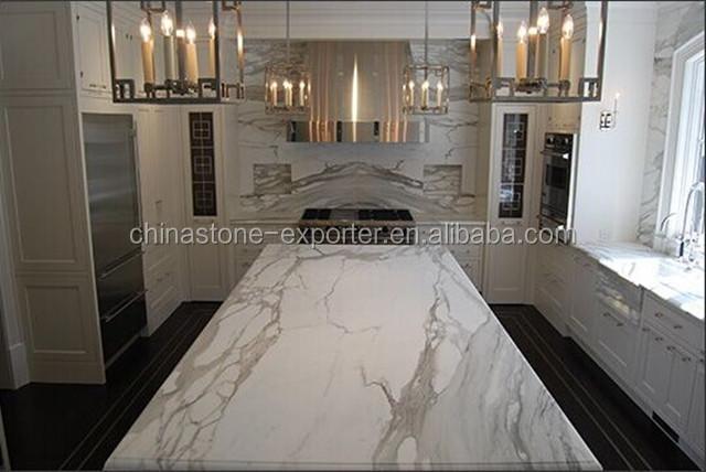 Italian Calacatta White Marble Flooring Design With Floors