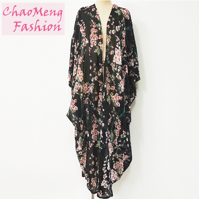 1610# Hot Selling in Dubai Stylish Fashion Chiffon Maxi Kimono Modest Muslim Dresses Butterfly Abaya For Women Islamic Clothing