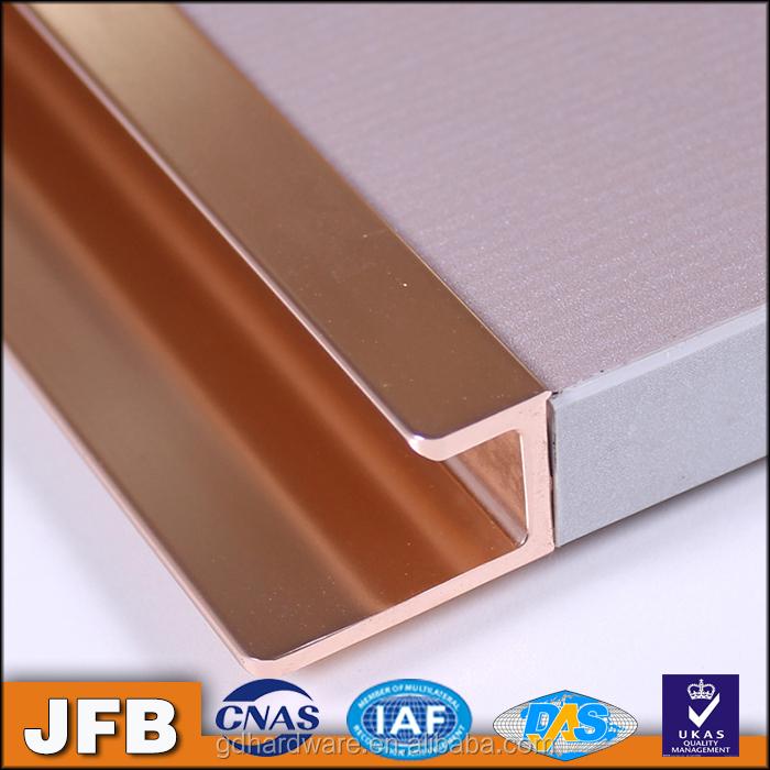 Or rose couleur profil armoires de cuisine porte profil for Porte aluminium cuisine