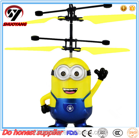 2015 New Product Plastic Induction Control Minions Flying Fairy RC minions