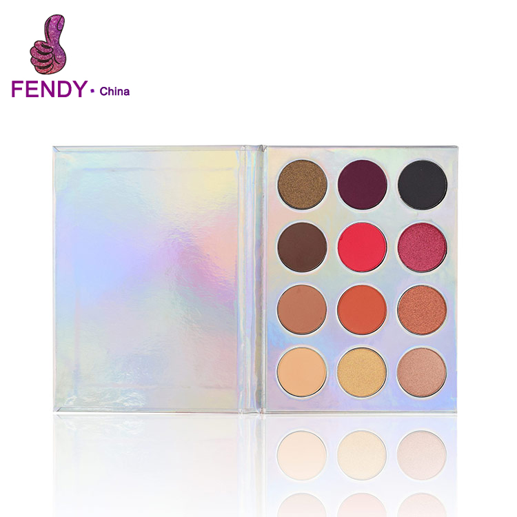 New custom holographic eyeshadow palette OEM mermaid palette for makeup <strong>cosmetics</strong>