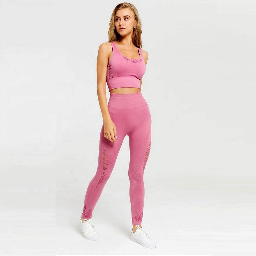 2019 frauen sexy hohe waits yoga bh top und hosen leggings 2 sets großhandel workout gym fitness sportsuit nahtlose yoga set