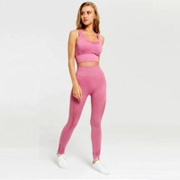 2019 Women Sexy High Waits Yoga Bra Top and Pants Leggings 2sets Wholesale Workout Gym Fitness Sportsuit seamless yoga set