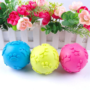 Soft Rubber Dog Toy Kids Play Ball Toys dog toys ball throw Soft Rubber Dog for Sale
