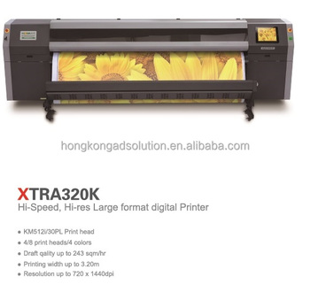 Flora solvent large format printer on KM512i printheads XTRA320K