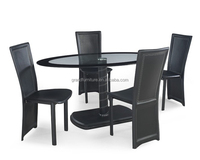 Elegant glass table furniture dining set