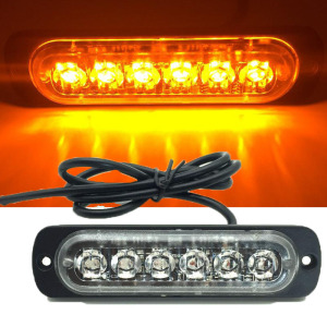 Super Slim 6 LED Car Truck Side strobe marker light