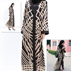 HOT Sale Printed Knitting Cotton Dress Newest Muslim Dress Women Beaded Abaya Easy to Wear for Women Clothes