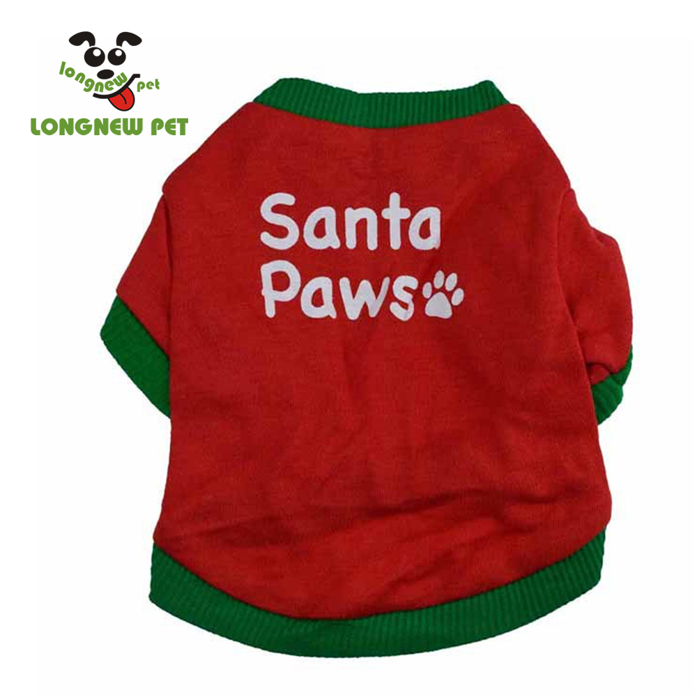 Santa PawsForce Christmas Dog Outfits Costume Wholesale Dog Tee For Pet Dog
