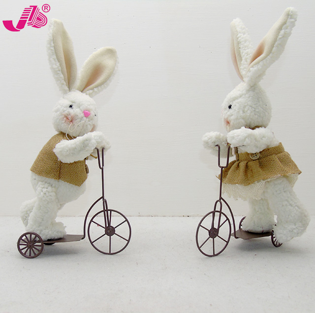 Plush Easter fabric bunny on scooter decoration