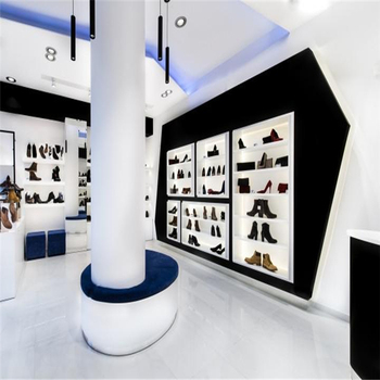 Shoes Shop Interior Design Used Wooden Display Cabinet
