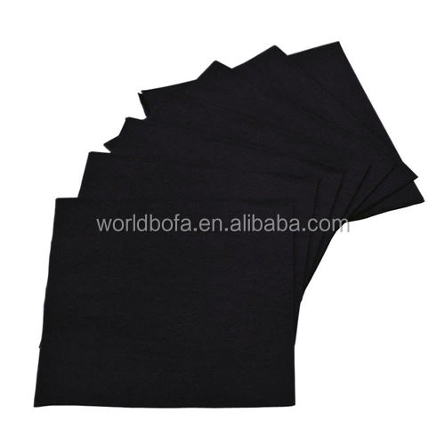 Custom printing disposable black paper dinner napkins with logo