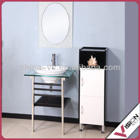 Waterproof floor-mounted unfinished solid wood bathroom cabinets
