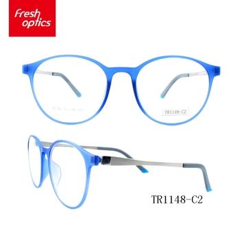 TR1148 Blue width temple eyewear frames,Colorful tr90 optical frame ...