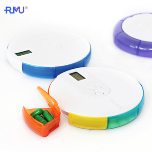TP08A Plastic Pill Container Medicine Case Automatic Dispenser 7 Day Holder Electronic Pill Box Organizer