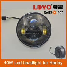"China factory led motorycle car parts 5.6"" round led headlight 12v 24v for Harley"