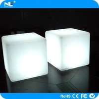 Alibaba express waterproof color changing led cube chair/led light cube for pool and home decoration