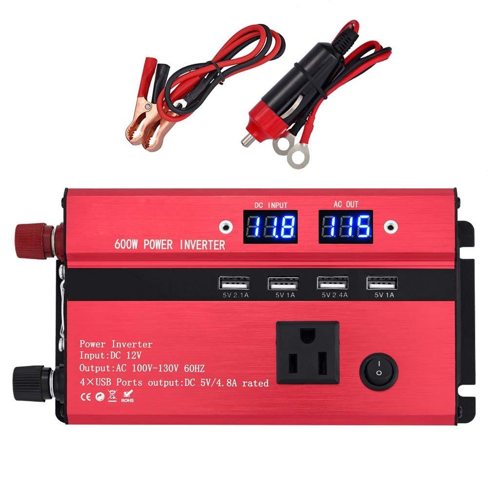 1000w Red Vehicle Dc12v-ac220v Led Power Inverter Converter 4usb Ports Universal Controlador Converters & Inverters