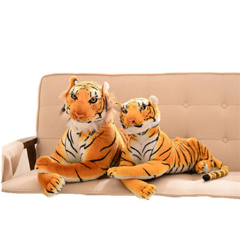 Various Size Printed Tiger Shaped Plush Animal Doll Cotton Toy