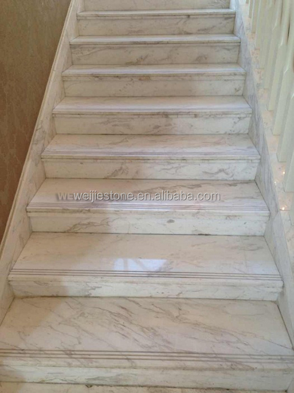 White Marble Stairs, Pure White Marble Stairway