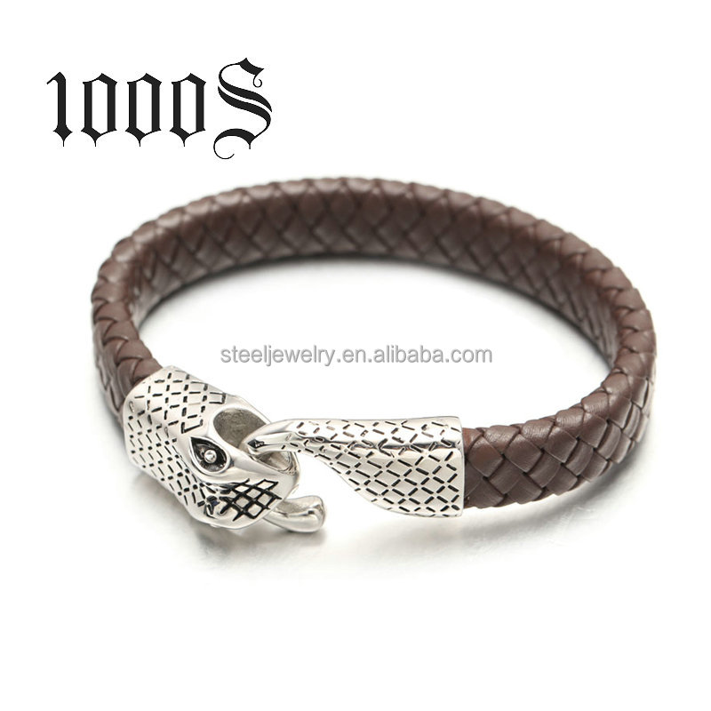 Halloween stocking snake stainless steel jewelry bracelet ,Classical & Fashion