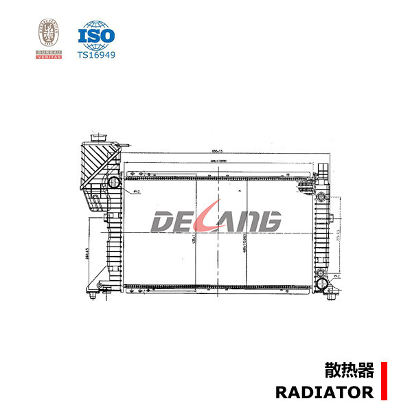 radiator themal manufacturer in China for MB SPRINTER W901-905 DL-A137A