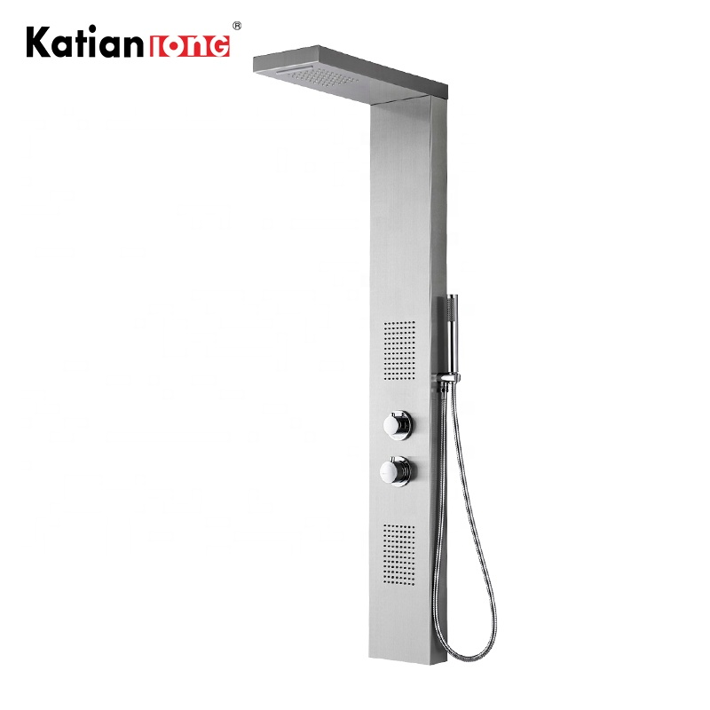 Imported From Abroad Bathroom Shower Column Rain Waterfall Shower Panel Tower Shower Faucet W Body Spa Massage Jets Tub Spout Mixer Tap For Bath Shower Faucets