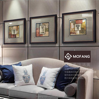 Frame 3 Panel Canvas Wall Art For Living Room european geometric oil painting