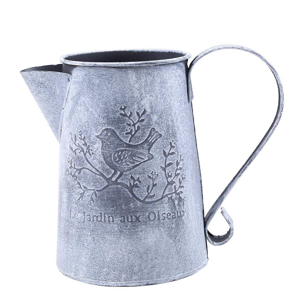 "Metal Watering Can, WCIC Vintage Craft Plants Iron Watering Tool With Bird Pattern For Outdoor and Indoor 6.69"" x 4.33"" x 5.51"""