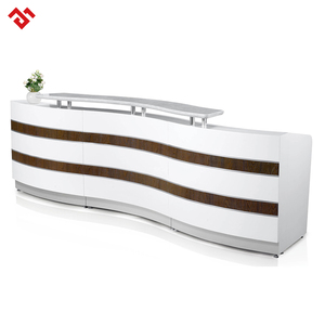 High end wood receptionist desk cash counter table luxury reception desk