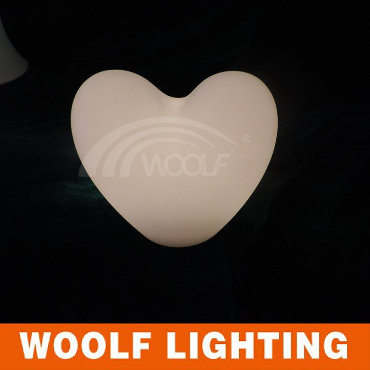 new style colorful self changed led night light/ color changing EVA heart /love shape colorful flashing night night