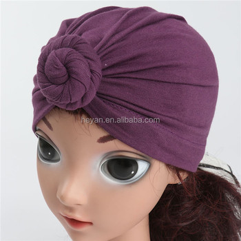Baby Turban Hat baby Topknot Turban Headband Hats fcbeee45b4c