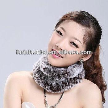 Fashion Woman Brown Knit Rex Rabbit Fur Snood Buy Hair Net Snoods