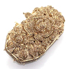 2015 Luxury Rose Flower Shape Handmade Crystal Stone Clutch Evening Bag