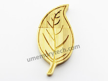 China supplier wholesale usb pen drive , promotional usb pendrive stick , leaf shaped usb flash drive